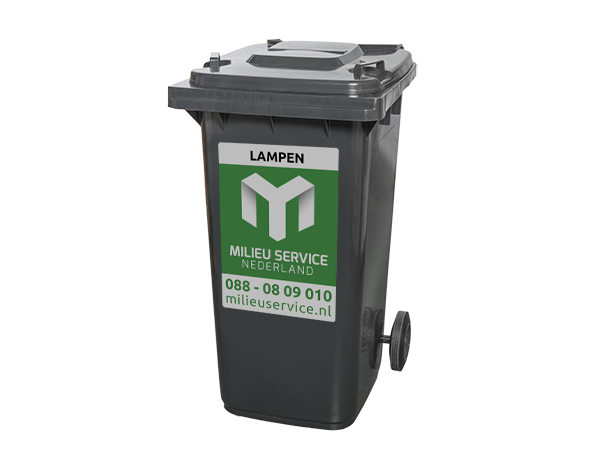 Rolcontainer 240 liter lampen